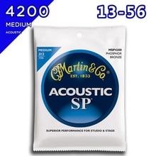 Martin MSP4200 Acoustic Guitar String Phosphor Bronze, Medium, 013-056