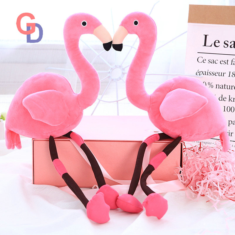 45cm Chinese cheap plush rose pink flamingo stuffed cartoon animal keychain cute doll toys for home decor baby gifts for kids 42 xdzs 260 elegant pink flamingo print art