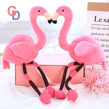 45cm Chinese cheap plush rose pink flamingo stuffed cartoon animal keychain cute doll toys for home decor baby gifts for kids(China)