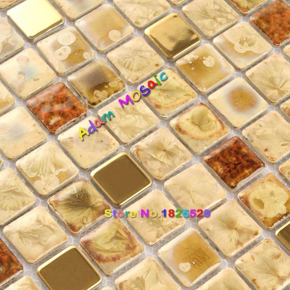 Beige Tile Bathroom Decorative Interior Wall Panels Gold Tiles ...