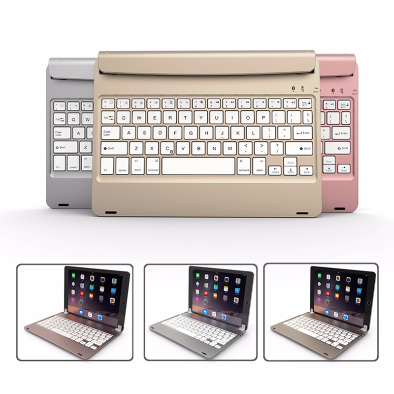New for iPad 9.7 2018 2017 Tablet Wireless Bluetooth Keyboard Stand Case Cover for iPad Pro 9.7 Air 1/2 wireless removable bluetooth keyboard case cover touchpad for lenovo miix 2 3 300 10 1 thinkpad tablet 1 2 10 ideapad miix