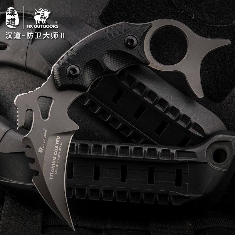 HX OUTDOORS CS go karambit gynybos meistras D2 Karambit peilis, - Rankiniai įrankiai - Nuotrauka 2