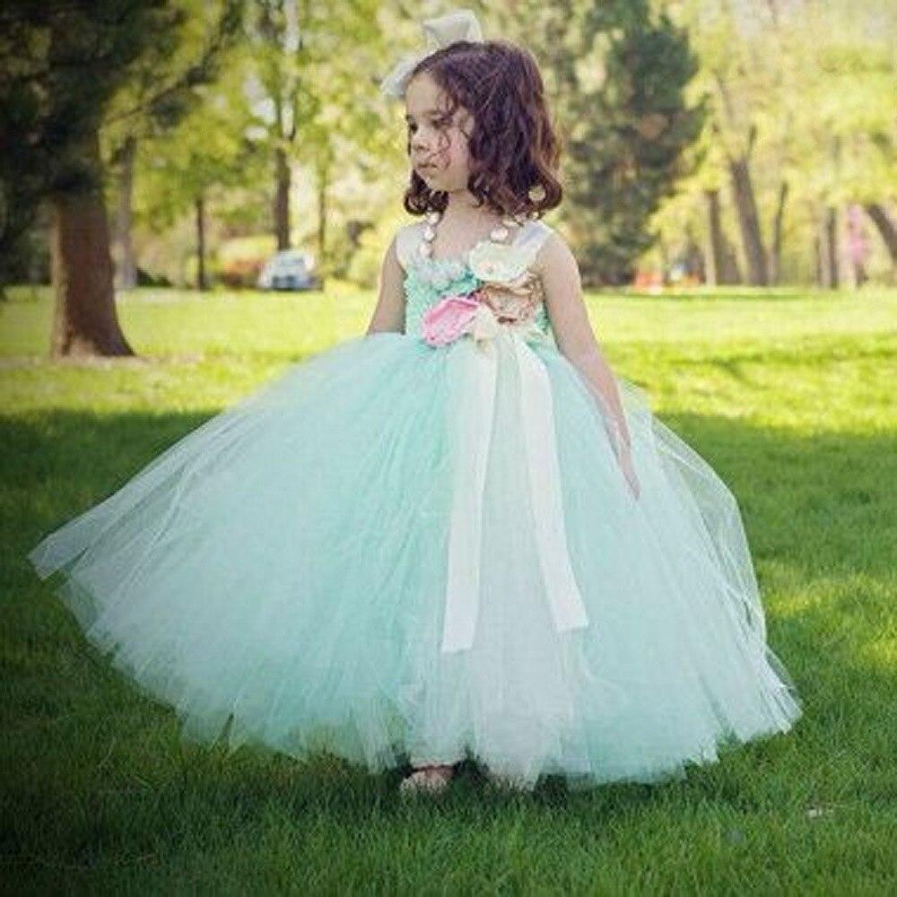 Orange and Purple Flower Girl Tutu Dress Orange Girl Dress Kids Baby ...