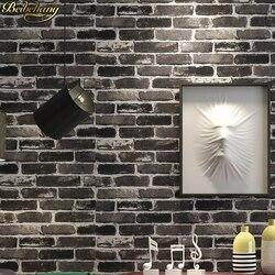 Beibehang chiński styl cegły kamień wzór wodoodporna tapeta z PCV ściany papel de parede para quarto 3D tapeta na ściany