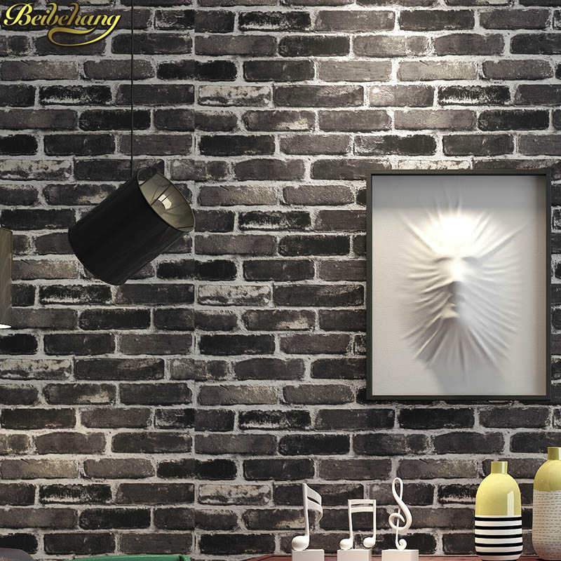 beibehang Chinese style stone brick pattern  waterproof pvc wallpaper wall papel de parede para quarto 3D wallpaper for walls check leather designs waterproof 3d stereoscopic wallpaper for bar wall papel de parede para sala