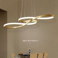 Новый дизайн минималистский современного искусства светодиодный подвесной светильник для Спальня обеденный Кухня зал Бар Алюминий подвес