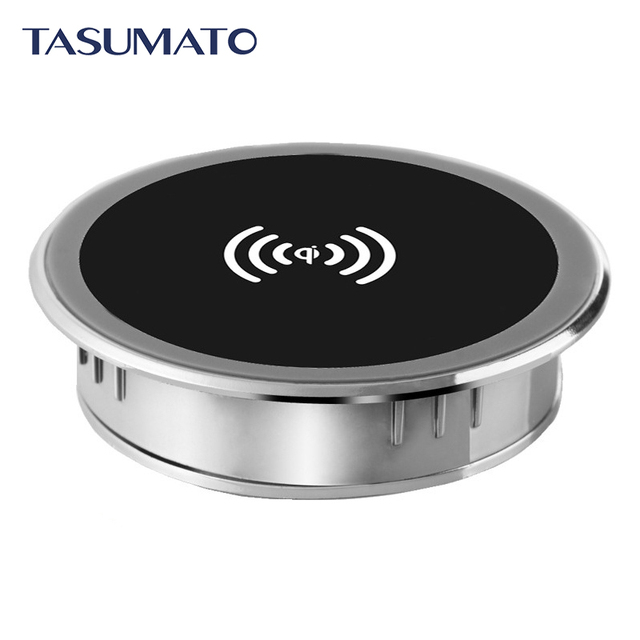 Office Coffee Bar Table Universal Qi wireless charger charging Pad For Samsung S7 Edge Note 5 S6 Edge G9200 G920F G9250 G925F