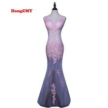 DongCMY CG0892 Novo 2017 formal longo vestido de festa robe de soirée lace plus size kaftan vestido longo Com Decote Em V vestido de noite