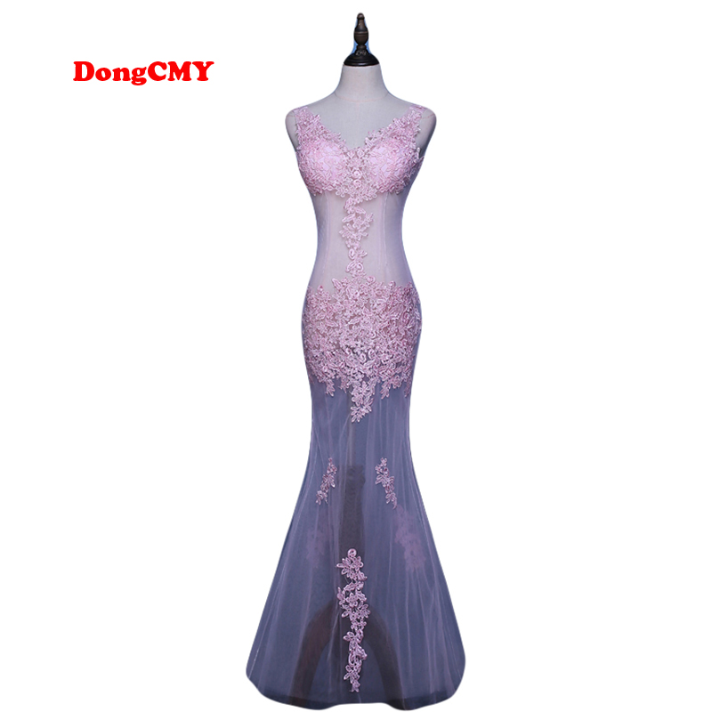 DongCMY CG0892 새로운 2017 정장 긴 파티 가운 드레 어 레이스 플러스 크기 kaftan vestido longo 브이 - 넥 이브닝 드레스