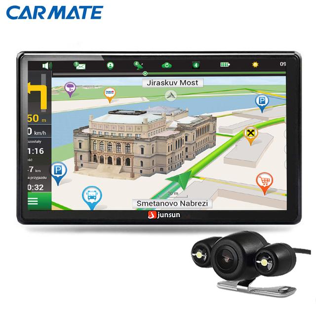 HD 7 polegada de Navegação GPS Do Carro Do Bluetooth com Câmera de visão Traseira AVIN FM 256 MB DDR/800 MHZ Mapas Atualizações gratuitas