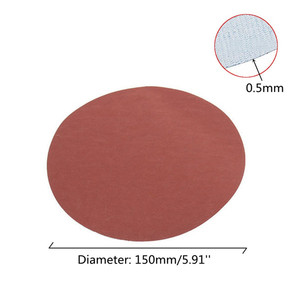 Image 4 - 25 יח\סט 6 אינץ 150mm עגול נייר זכוכית דיסק חול גיליונות חצץ 600 3000 וו לולאה מלטש דיסק עבור סנדר גריסים שוחקים כלים