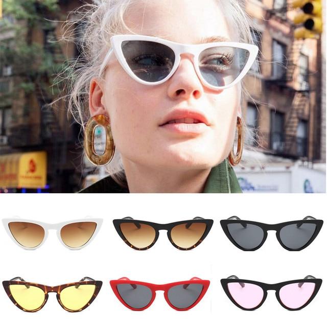 Kacamata Hitam Pria Wanita 2018 Wanita Lensa Film CATEYE Bingkai Shades  Bingkai Asetat UV Kacamata Kacamata 107c9692f4