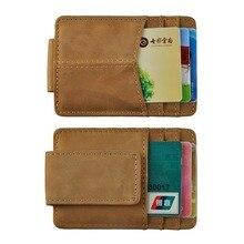 Purse Wallet Money-Clip Card-Case Front-Pocket Magnetic Male Travel Mini for Men 1017-L
