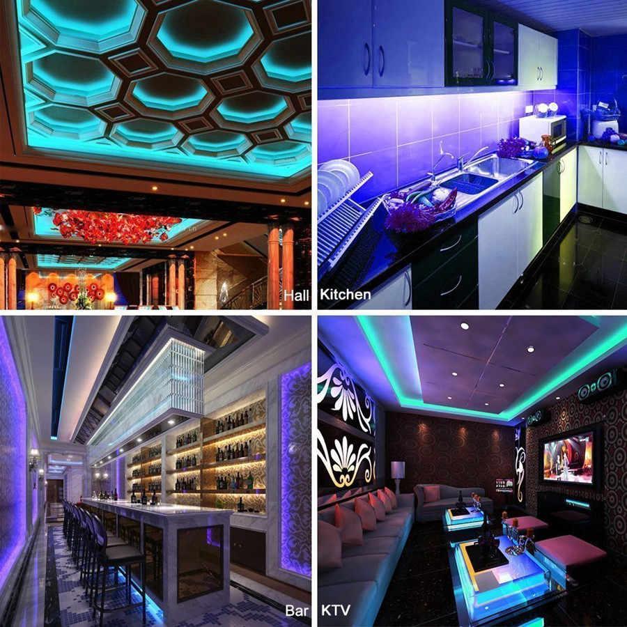 RGBWW RGBW RGB LED bande étanche 5050 noir PCB DC12V lumière LED bande Flexible néon bande 2.4G contrôleur décoration de noël