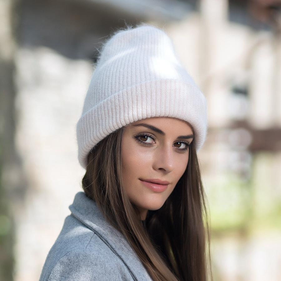 2017 New Autumn Winter Beanies Hats For Women Knitting Warm Wool Skullies Caps Ladise Hat Pompom Gorros (4)