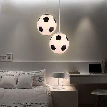 Современный светодиодный подвесной светильник стеклянный футбольный кулон баскетбол лампы для гостиной прекрасный свет Детская комната Д...