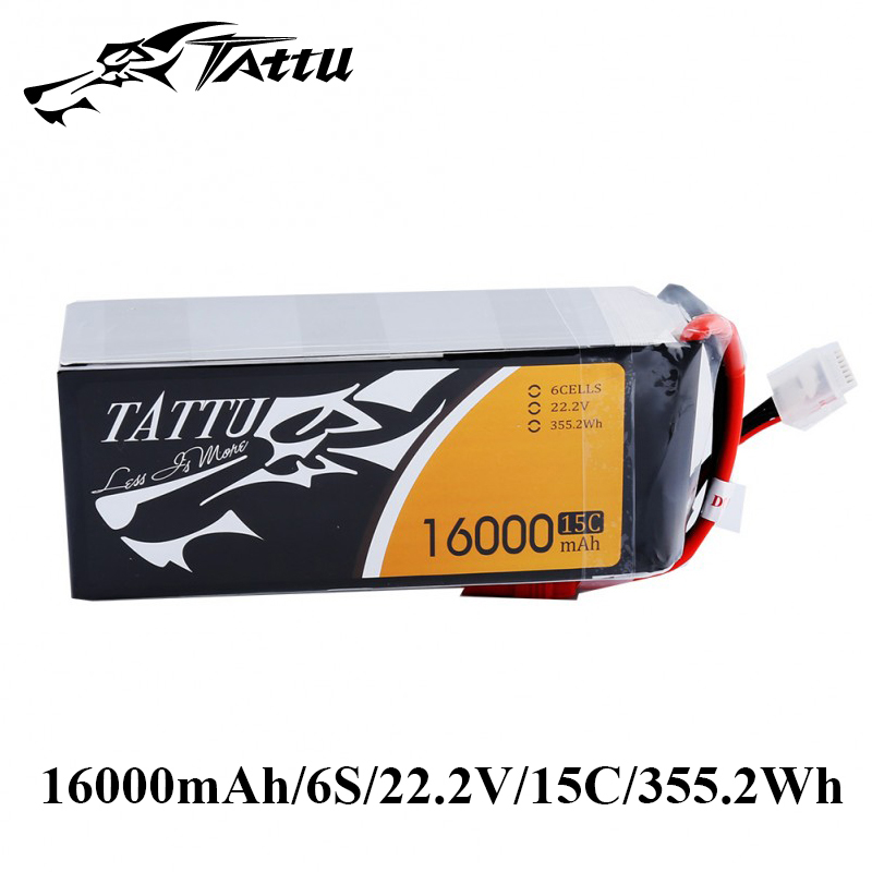 TATTU Lipo Battery 6s 16000mAh 22.2V Lipo Akku 15C for S800 S1000 Lipo Battery Pack EC5 Plug Quadcopter UAV Drones цена и фото