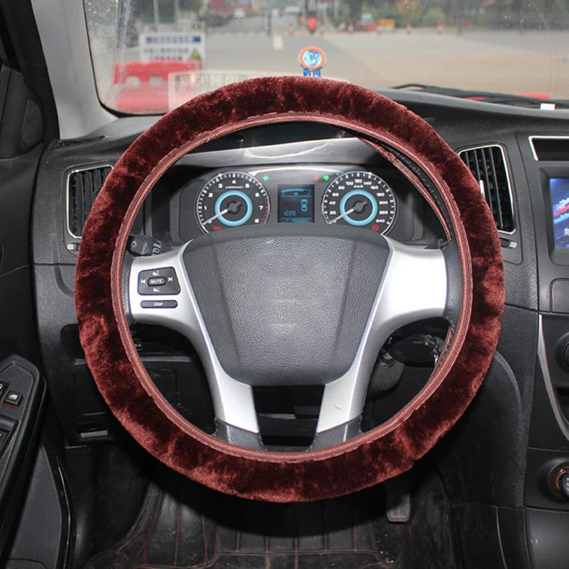 Heated Front Seats And Steering Wheel: 2018 Winter Warm Car Steering Wheel Cover Faux Fur