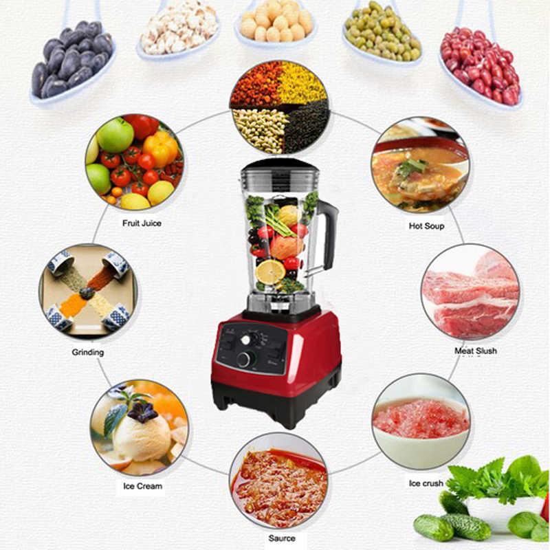Temporizador BPA Livre Heavy Duty Commercial Blender Misturador Processador de Alimentos Espremedor de Frutas Automático Triturador de Gelo Smoothies 2200 W