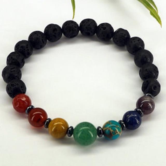 Sn0583 Men S 7 Chakra Bracelet Balancing Yoga Mala Vitality Natural Stone