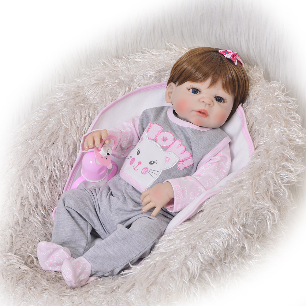 2018 Fashion 23 Inch Reborn Dolls Waterproof 57 cm Full Silicone Reborn Baby Dolls Girl Realistic Princess Childrens Day Gifts2018 Fashion 23 Inch Reborn Dolls Waterproof 57 cm Full Silicone Reborn Baby Dolls Girl Realistic Princess Childrens Day Gifts