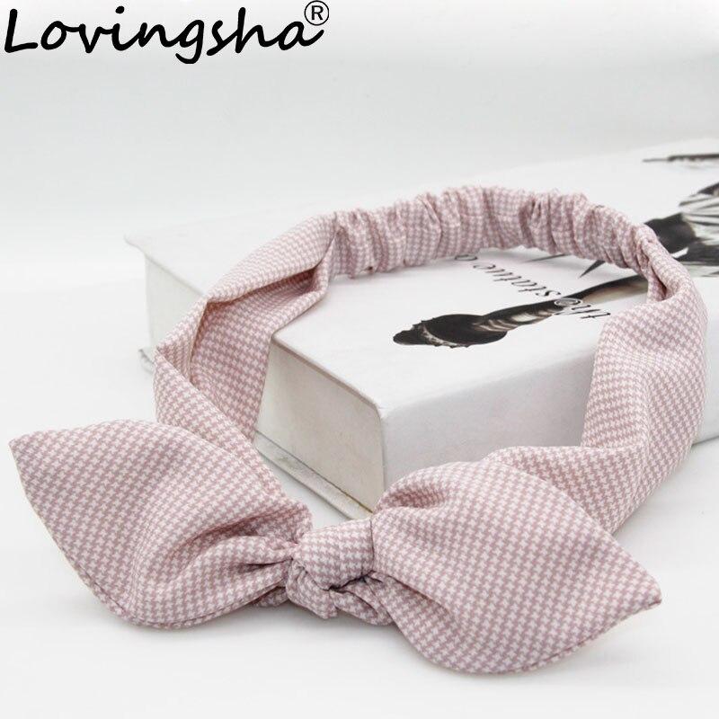 LOVINGSHA Sweet Design Ladies Hair Accessories Headbands For Women Girl Bow Hair Holder Rope Female Hair Tie Turban FD099