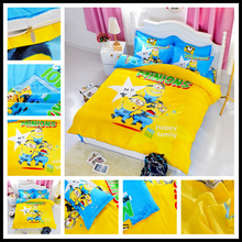 Minions Bedding Set – 4pcs Duvet Cover Set with Bed Sheet Pillowcases