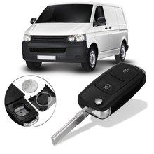 Caso Chave Remoto FOB 2 Botões Desbloqueio Bloqueio Do Carro de Entrada w/Bateria de Substituição Para VW Transporter T5 Polo GOLF Polo
