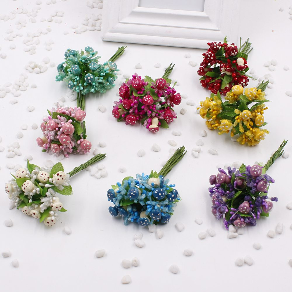 New 10pcs batch artificial flower mushroom stamens New flower decoration