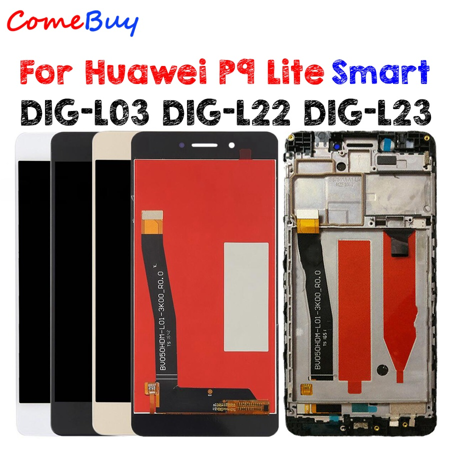 For Huawei P9 Lite Smart LCD Display Touch Screen Replacement For Huawei P9 Lite Smart Screen With Frame DIG-L03 DIG-L22 DIG-L23