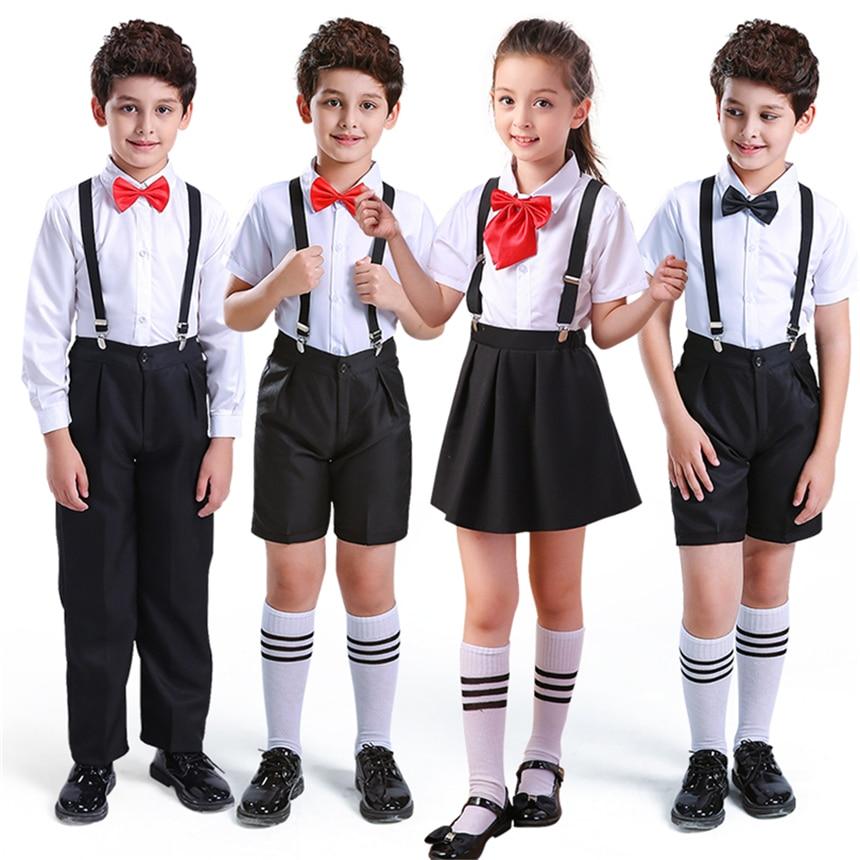 8Color Girls School Uniform Student Class Team Performance