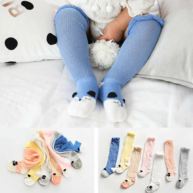 Baby Socks For Girls Girls Baby Cotton Cartoon Socks New Born Infant Toddler Kids Soft Anti-fly Net Socks