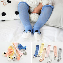 Baby Socks For Girls Girls Baby Cotton Cartoon Socks New Born Infant Toddler Kids Soft Anti-fly Net Socks(China)