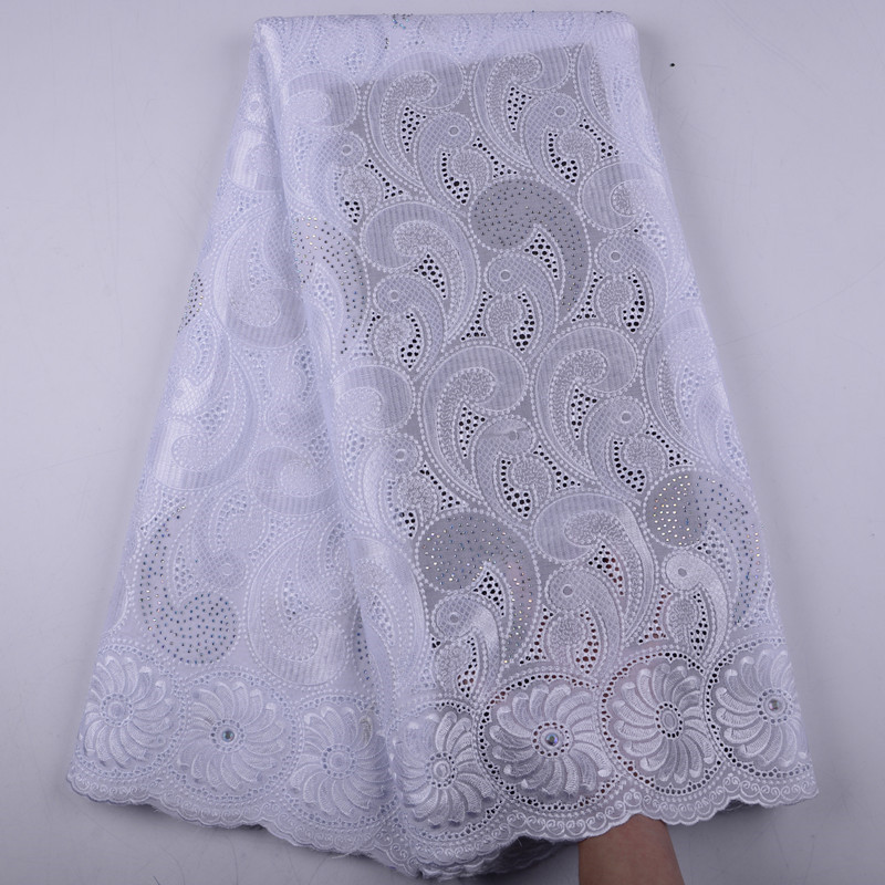 White Swiss Voile Cotton Lace Fabric 2019 African Swiss Voile Lace In Switzerland High Quality Swiss