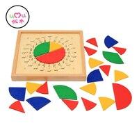 Zabawki dla niemowląt Circular Matematyki Frakcji Podział Pomoce Dydaktyczne Montessori Matematyka Zabawki UJ1188H Pokładzie Drewniane Zabawki Edukacyjne Prezent