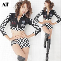 Girls Sexy Car Racing Costumes Lingerie Sexy BodySuit Costumes