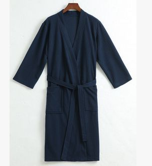 Free shipping Mens Sexy Kimono Bath Robe Men Waffle pijama Male Nightwear Sleep Lounge home clothes peignoir home 010402