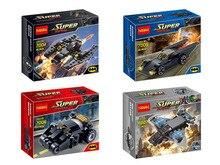 Decool 7004-7007 DC Hero Batman Chariot Batman Fighter 4Pcs/lot Minifigure Building Block Toys   Brick Gift