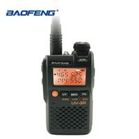 Baofeng UV 3R Mini Walkie Talkie 2W 3.7V Portable Radio UHF VHF Dual Band Hf Transceiver Scanner Radio Amador Handheld Woki Toki