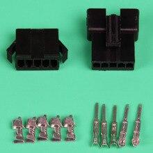 10 компл. черный 5pin/способ вилки электрические разъемы sm2.54mm-5 P Kit (мужской и женский Корпус + терминал) для автомобиля/лодки ЭСТ.