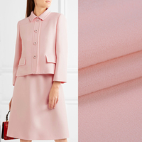 140CM Wide 470G/M Weight Pink Double Faced Wool Crepe Fabric for Spring and Autumn Dress Shirt Jacket Suit DE482