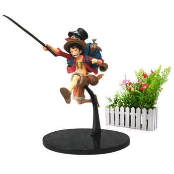 Anime One Piece Backpack Luffy Cartoon Model Doll PVC Action Figure Toy for Children Collection Birthday Gift цена 2017