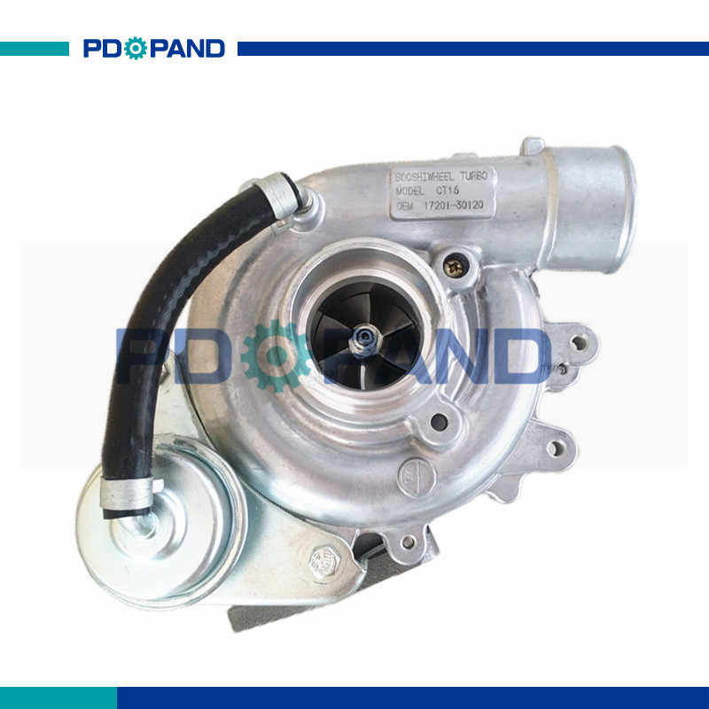 Turbo kit CT16 turbocharger 17201-30120 1720130120 for Toyota Hiace Hilux Dyna Innova Regiusace Fortuner 2.5L 2KD FTV diesel