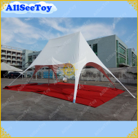 New White 8m by 12m Pole Star Tent Outdoors Aluminium Pole Canopy Party Tent Marquee for Events