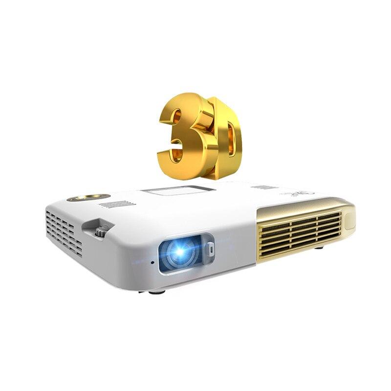 3D Mini DLP Portable Projetor Android tv led HD 1080 p Smart Proyector Home Cinéma Cinéma 2D À 3D Beamer Vidéo projecteur pour téléphone