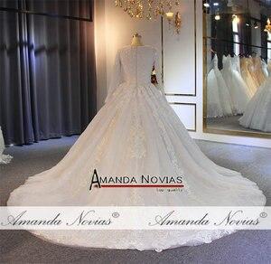 Image 4 - มุสลิมชุดแต่งงาน 2019 ไข่มุกประดับด้วยลูกปัด 100% จริงทำงานคุณภาพสูง