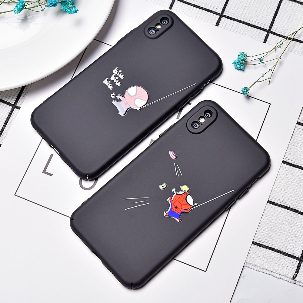 Artisome Fashion Patterned Case For iPhone 7 6 6S Plus Cute Patterned Funny Cartoon Hard PC Case For iPhone X 8 Plus Back Cover ...