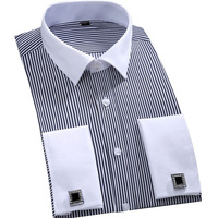 Men French Cufflinks Shirt 2017 Brand New Men S Shirt Long Sleeve Casual Male Shirts Slim