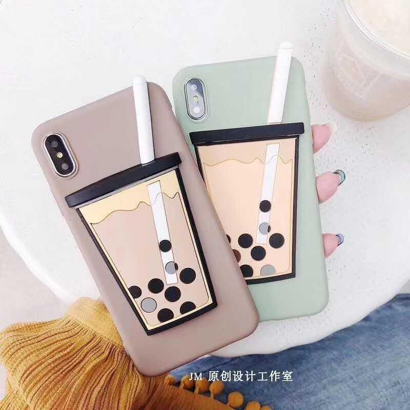 Korea 3D Bubble Tea Phone Case for iPhone XS MAX XR Fundas