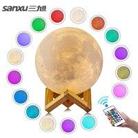 Sanxu Motion Sensor 3d Night Light Moon Lamp USB Led Lights For Home Lamps Usb